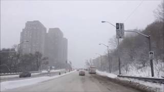 DRIVING WITHOUT SNOW TIRES / TORONTO SNOW STORM / FEB 10 2018