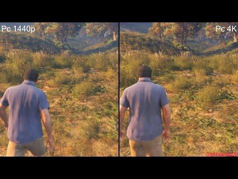 GTA 5 Pc 4K Vs 1440p Graphics Comparison - YouTube
