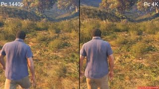 GTA 5 Pc 4K Vs 1440p Graphics Comparison