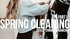 Spring Cleaning 101 | THE PURGE (decluttering, organizing, & tours) VLOG