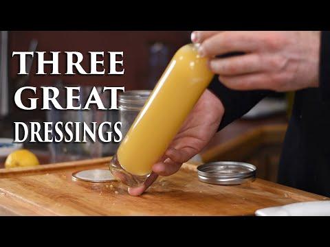 Best Salad Dressing!  Three Easy Recipes!