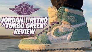 TURBO GREEN JORDAN 1 RETRO ON FEET REVIEW