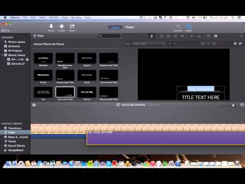 A Step-by-Step Tutorial on how to create voice recordings on iMovie