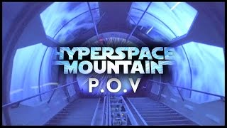 HYPERSPACE MOUNTAIN (LIGHTS ON POV) - DISNEYLAND CALIFORNIA