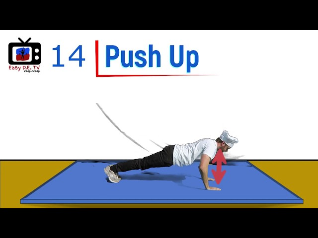 Easy PE PUSH UP Test with Video Model
