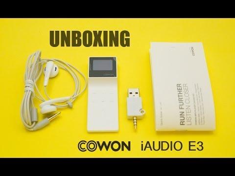 COWON iAUDIO E3 UNBOXING