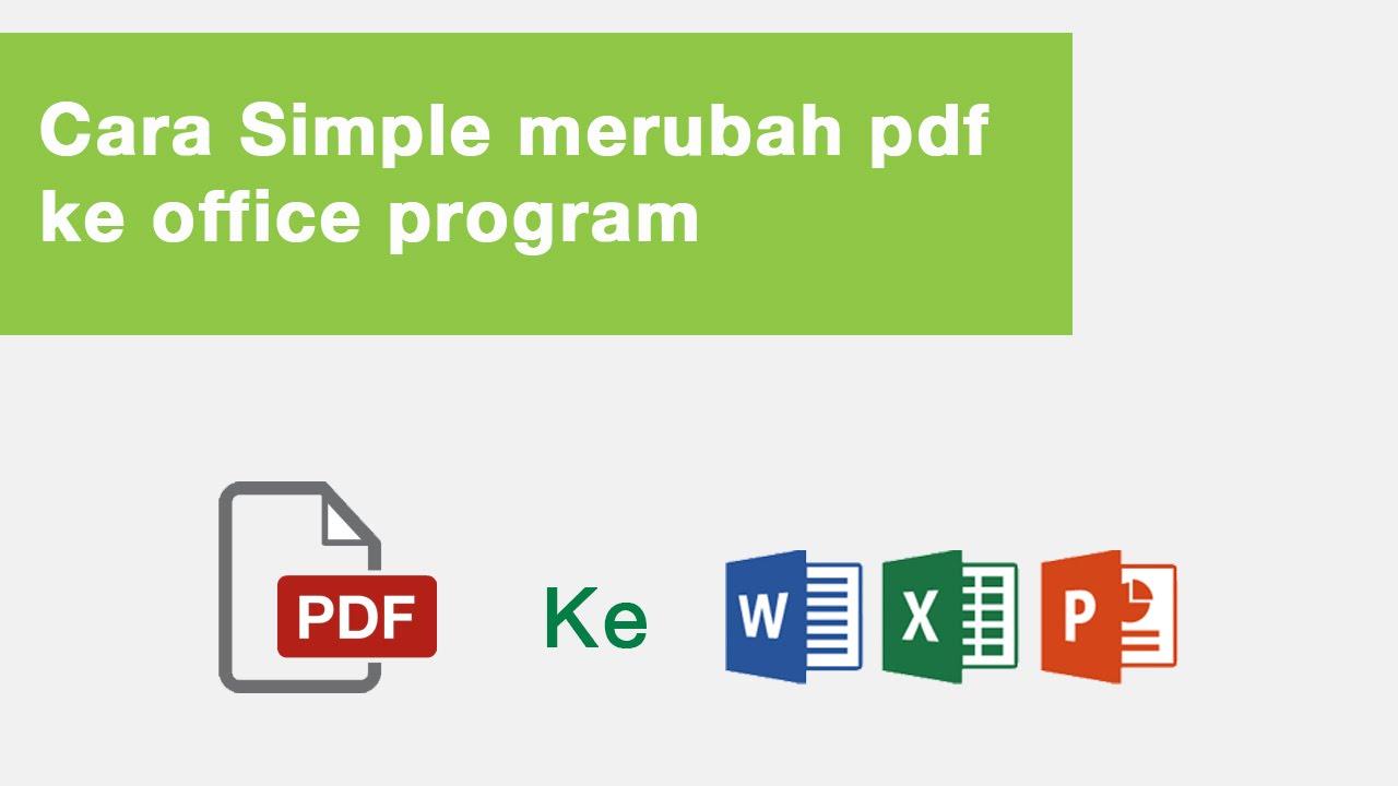 Word aplikasi untuk menjadi mengubah pdf file