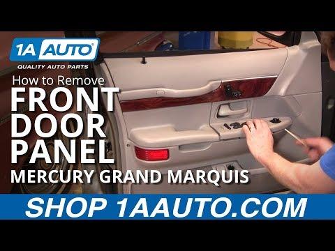 How To Remove Front Door Panel 98 02 Mercury Grand Marquis Youtube