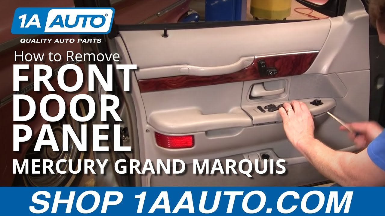 how to install replace front door panel mercury grand marquis 98 02 1aauto com [ 1280 x 720 Pixel ]