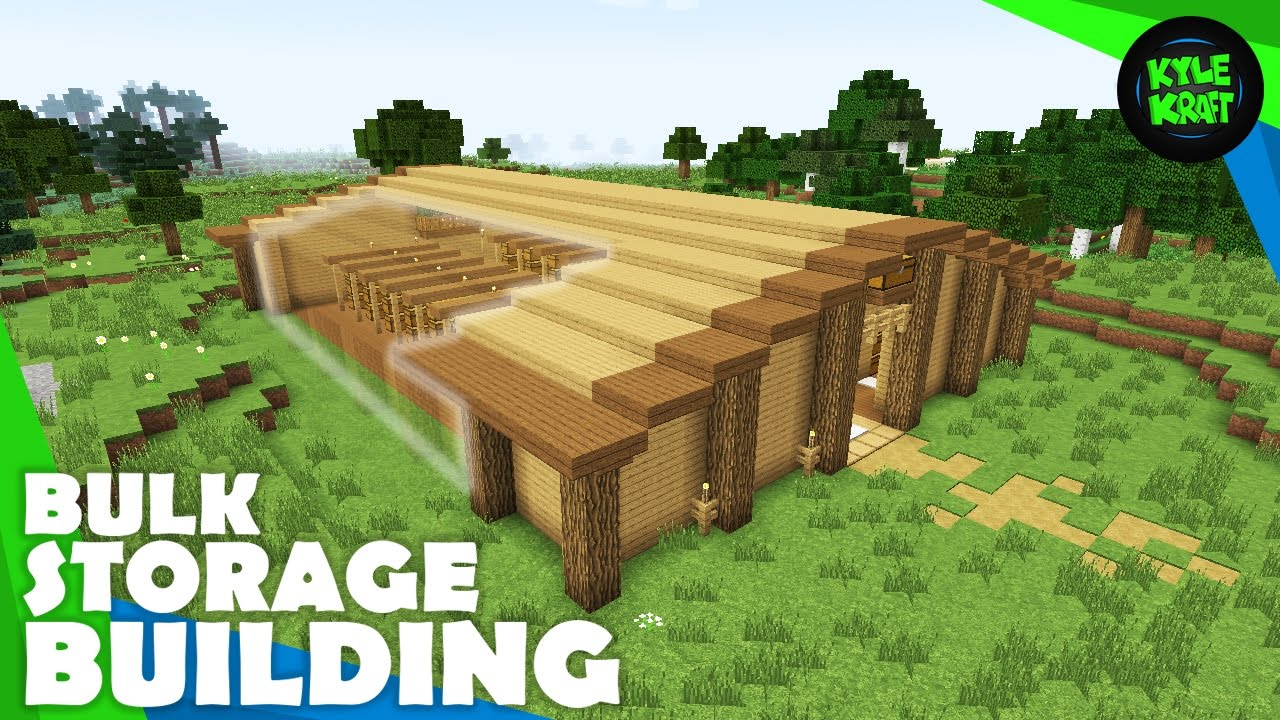 Minecraft Survival Storage Warehouse Youtube