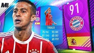 FIFA 18 SBC THIAGO REVIEW | 91 SBC THIAGO PLAYER REVIEW | FIFA 18 ULTIMATE TEAM