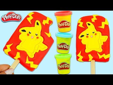 How to Make a Yummy Pokemon Pikachu Play Doh Popsicle | Fun & Easy DIY Play Dough Art!