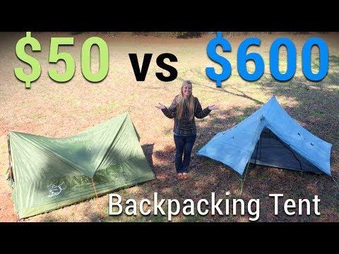 $50 Tent vs $600 Tent