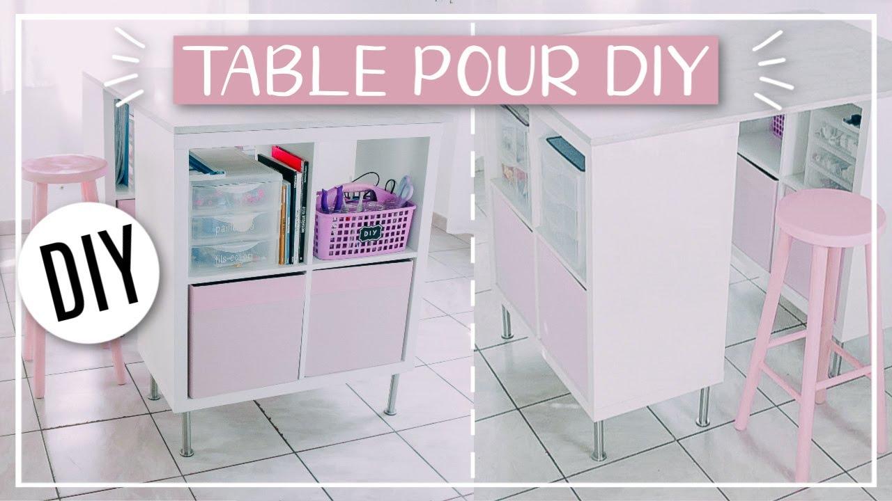 Meuble Pour Loisirs Créatifs table pour diy : astuce rangement ikea facile & pas cher - séverine jenny
