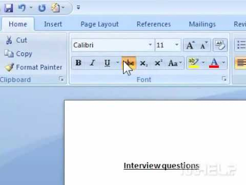How To Apply Strikethrough To Selected Text In Word - Youtube