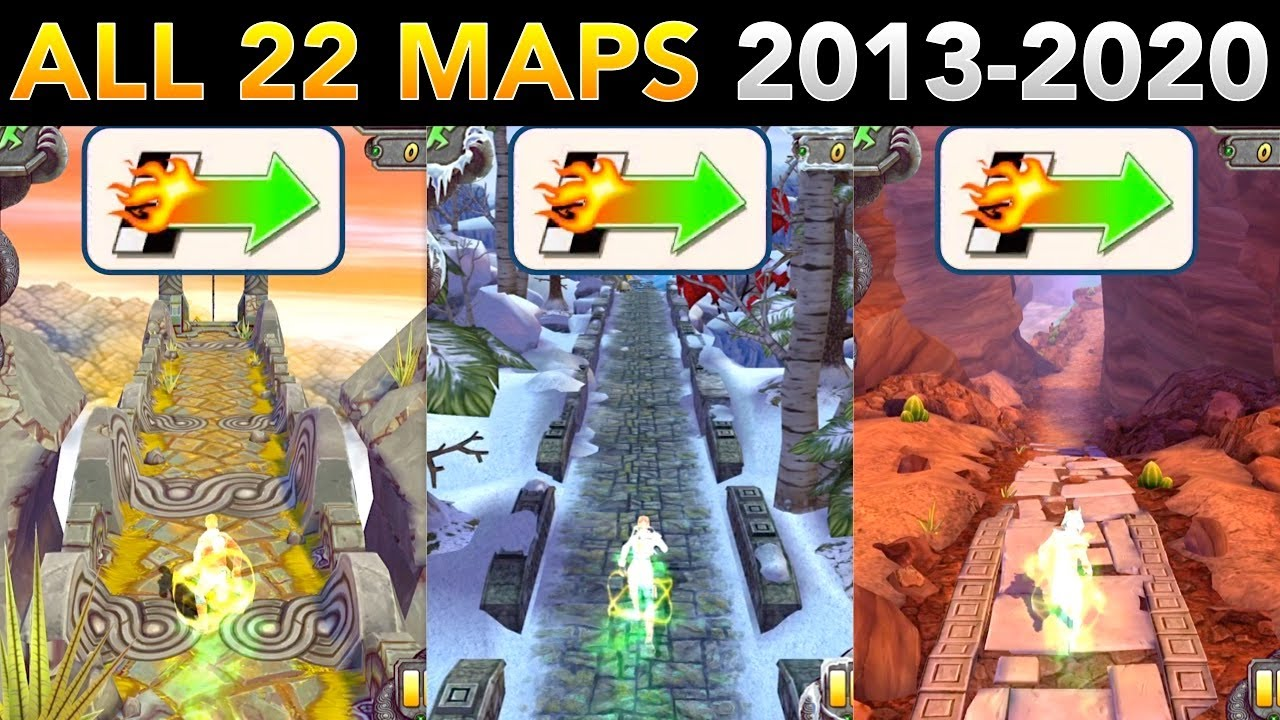Temple Run 2 Super Head Start | All 22 Maps 2013-2020 (Temple Run 2 China Included)