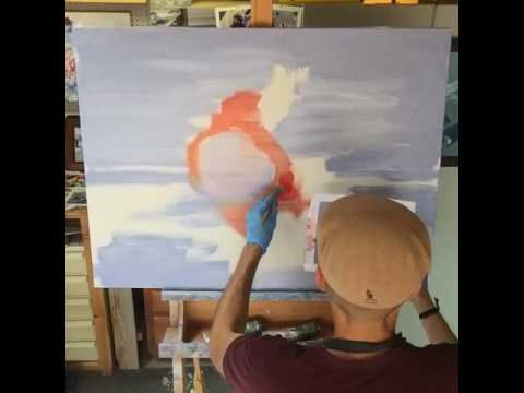 Studio Tour and Painting Demo by Contemporary Figurative Artist Warren Keaitng