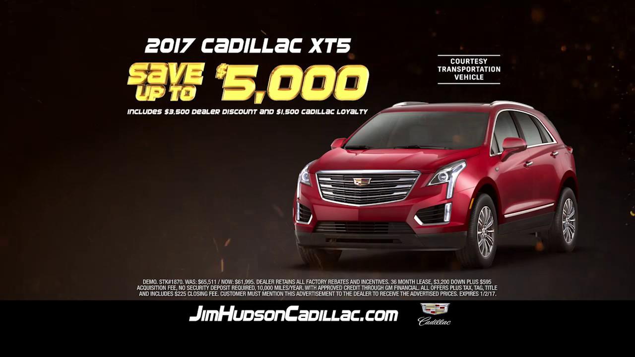 Jim Hudson Cadillac >> Jim Hudson Cadillac Year End Sale XT5 December 2016 - YouTube