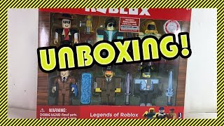 Unboxing Roblox Toys - Legends of Roblox! 😱
