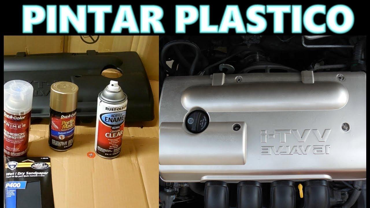 Como pintar partes de plastico con latas spray solamente materiales baratos youtube - Pintura para plastico ...