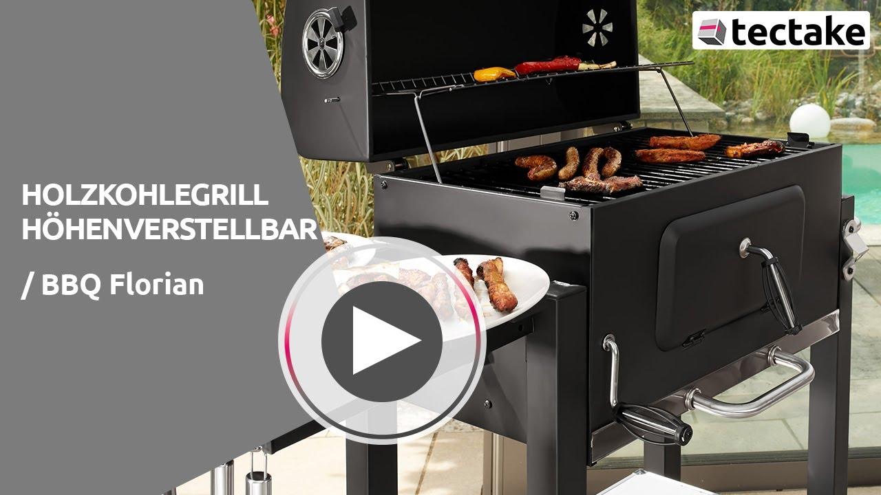 Weber Holzkohlegrill Grillwagen : Holzkohlegrill mit höhenverstellbarer grillkohlewanne tectake