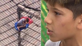 Missing Boy Found on Roof of Home by Reporter Covering His Story in Helicopter