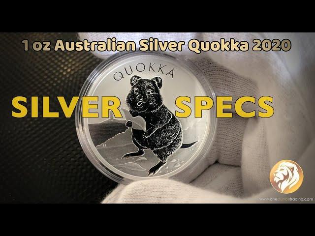 SILVER SPECS-  1 oz Australian Silver Quokka 2020