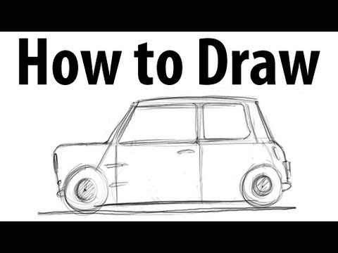 How To Draw A Mini Cooper Classic Sketch It Quick Youtube