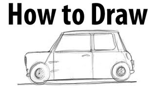 How to draw a Mini Cooper (classic) - Sketch it quick!