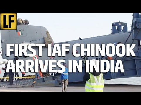 Indian Air Force's First Chinook Arrives In India