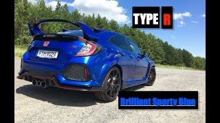 homepage tile video photo for 2018 Honda Civic Type R Brilliant Sporty Blue - Inside Lane