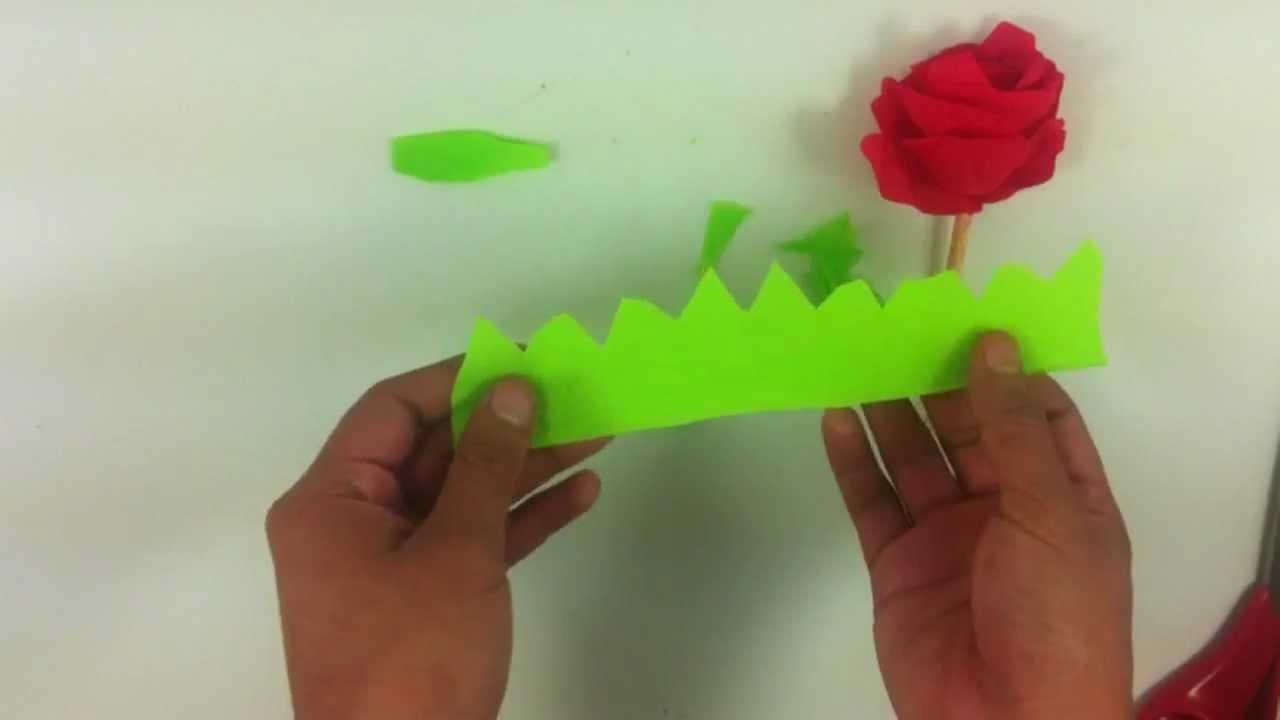 Hacer una rosa de papel manualidades con cartulina youtube - Youtube manualidades de papel ...