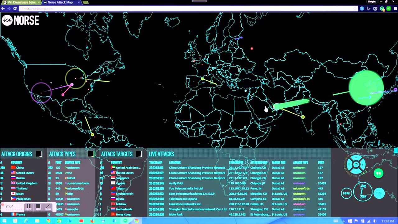 Watch cyber attacks in real time youtube watch cyber attacks in real time gumiabroncs Gallery