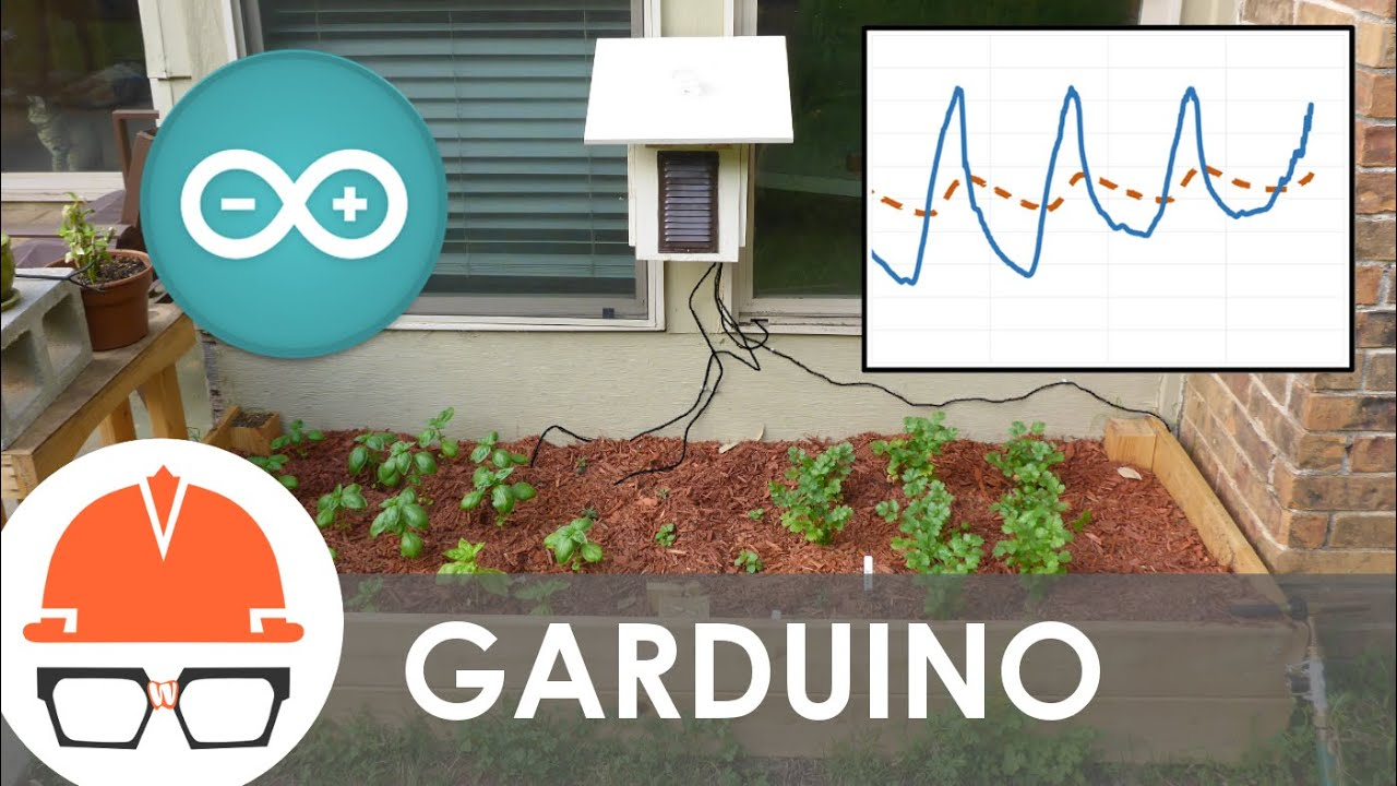 Arduino garden controller automatic watering and data