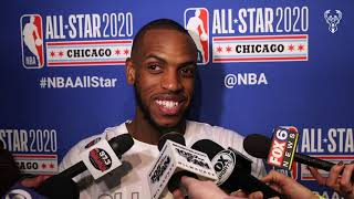 """""""Hopefully I Get A Nice Picture So I Can Hang It In Bled's Locker"""" Khris Middleton All-Star 2020"""
