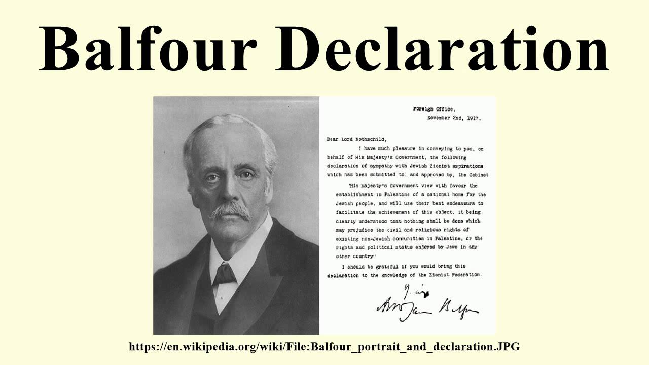 Balfour Declaration Youtube