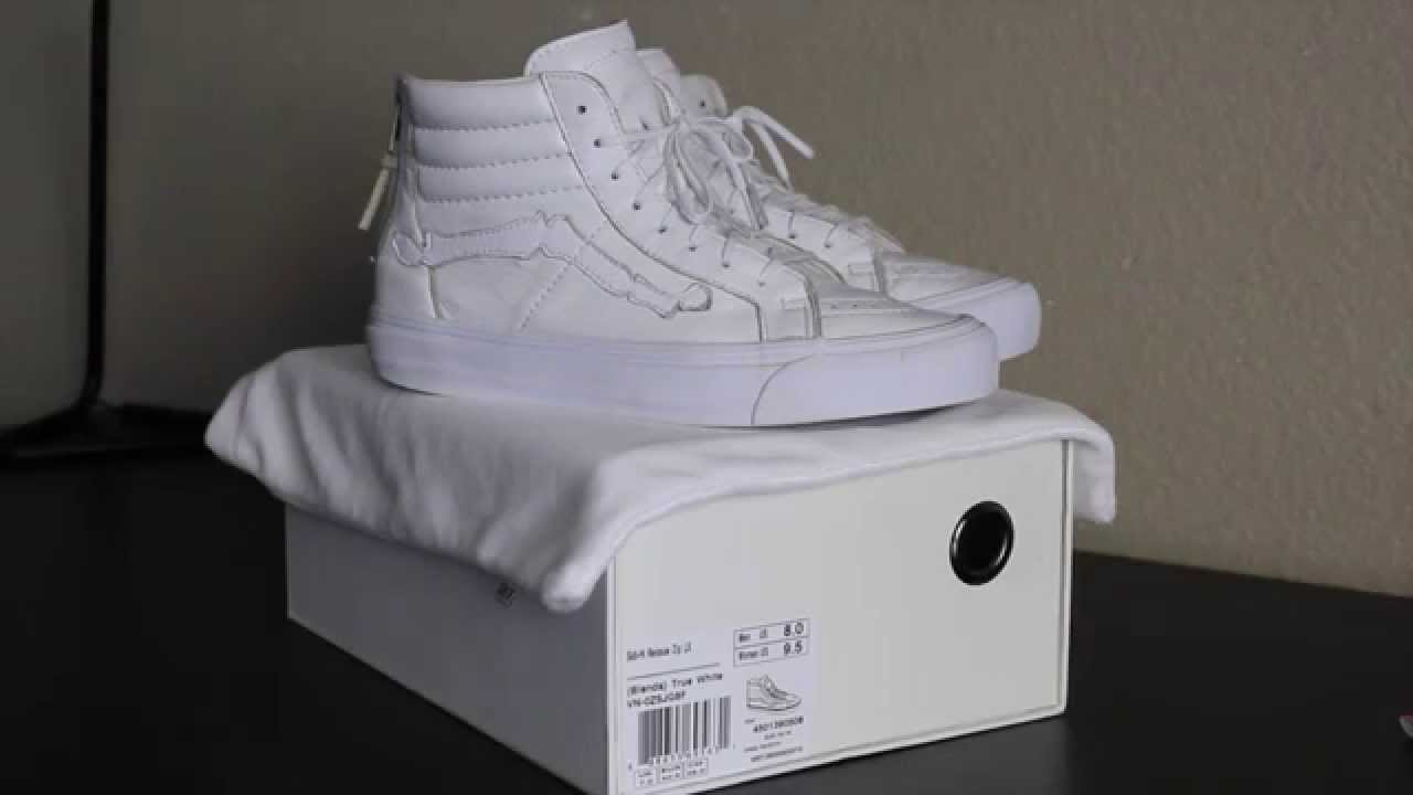 9bbda3eb30 Blends Vans Sk8-hi True White Review + On Feet - YouTube