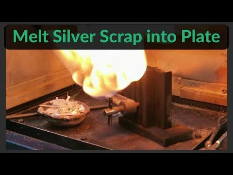 How to melt silver bench scraps & offcuts into a silver plate