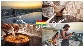 LIFE IN GHANA | Swimming, Late Night Cooking, Watching Movies