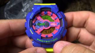 CASIO G-SHOCK REVIEW & UNBOXING GA-110HC-6 HYPER FRUIT SALAD