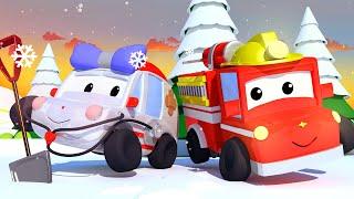 Die winzige Stadt -  Weihnachten: Eiskrem im Schnee - Lehrreiche Cartoons für Kinder 👶 🚚