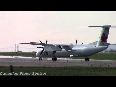 Air Canada Express Q400 Takeoff from Ottawa Int'l Airport