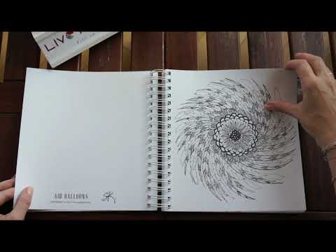 Sandi Pirrelli Coloring Book, Flights Of Fancy - flip through