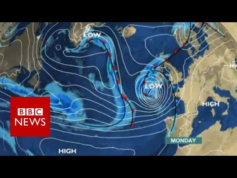 Hurricane Ophelia:  Woman dies as storm hits Ireland  - BBC News