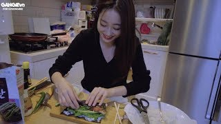 Gyeongree làm Kimbap thịt ba chỉ và cái kết =)))