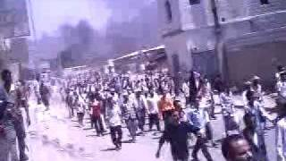 Revolution of south Yemen.. AlDhalea 24/ 06/ 2009..  Demonstration call for independance
