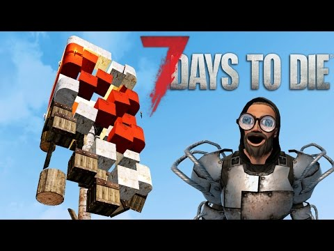 DEMOLITION EXPERT | Let's Play 7 Days to Die Part 15 | Base Destroying | Alpha 15 Gameplay