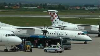 Croatia Airlines Bombardier Dash 8  four landings & taxi to gate at Zagreb airport (ZAG/LDZA) HD