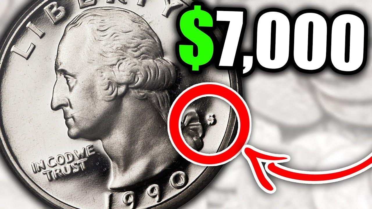 SUPER RARE 1990 QUARTERS WORTH MONEY - VALUABLE US COINS