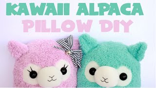 Kawaii Alpaca Pillow Tutorial